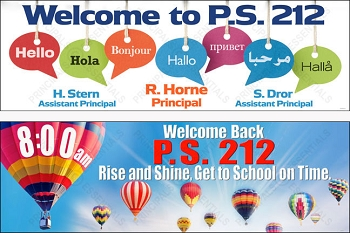 P.S. 212 Custom Welcome Hello Banners