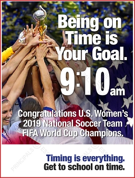 Women's Soccer Champions Poster