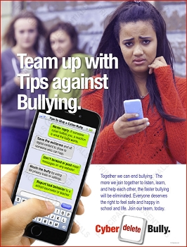 Tips to Stop Cyber-Bullying Poster