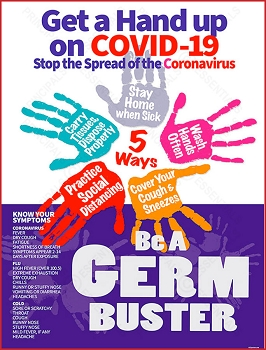 Germ Buster COVID Poster