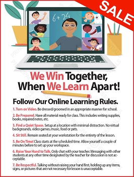 Remote/Online Learning School Rules Poster