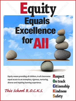Equity Equals  Excellence for All Poster