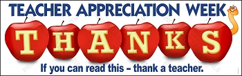 Teacher Appreciation Apples Vinyl Banner