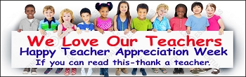 Love Teachers Appreciation Week Banner