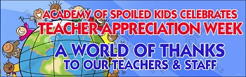 Spoiled Kids World of Appreciation Banner