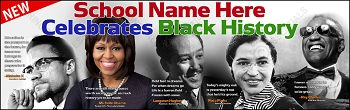 Black History Quotes Vinyl Banner