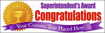 Superintendent's Recognition Banner