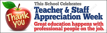Teacher/Staff Apple Appreciation Week Vinyl Banner