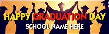 Happy Graduation Day Vinyl Banner
