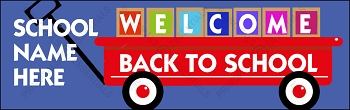 Welcome Wagon Vinyl Banner