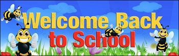 Welcome Bumble Bees Vinyl Banner