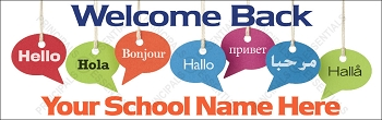 Multicultural Hello School Banner