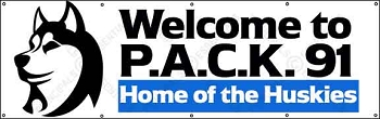 P.A.C.K.  91 Custom Outdoor Banner with Logo