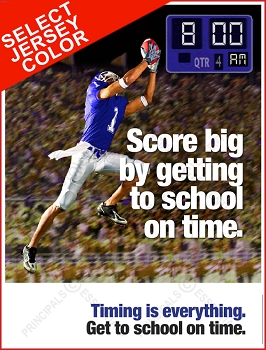 Men's Football Score Tardy Poster