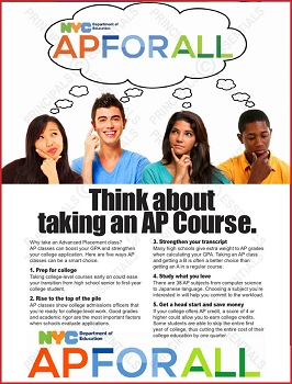 Advanced Placement Think Poster