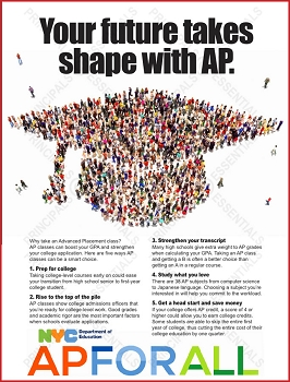 Advanced Placement Cap Poster