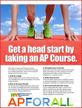 Advanced Placement Head Start Poster