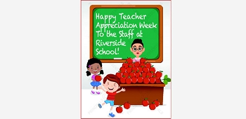 Apples on Teacher's Desk Poster