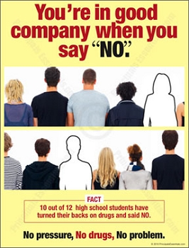 10 out of 12 high school students have turned their backs on drugs.