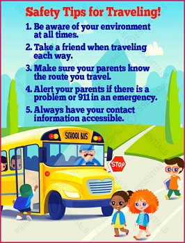Safety Tips for Traveling Poster