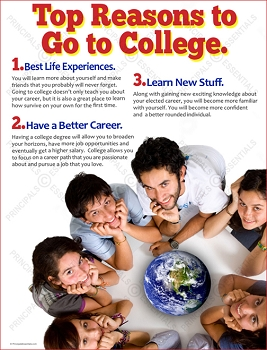 Top Reasons to Go to College Poster