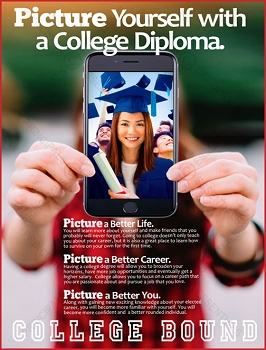 Picture Yourself with a College Diploma Poster