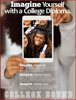 Imagine Yourself with a College Diploma Poster