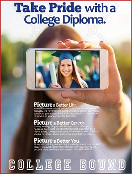 Take Pride with a College Diploma.