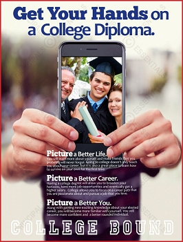 Get Your Hands on a College Diploma Poster