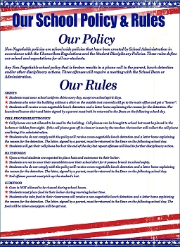 School Rules & School Regulations Poster