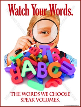 Watch Your Words Poster