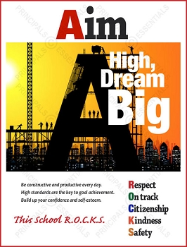 Aim High, Dream Big Poster