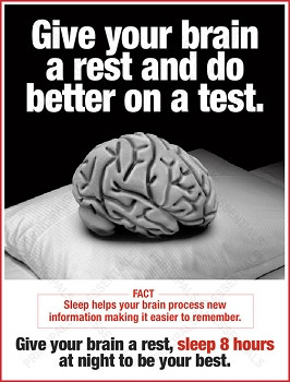 Give your brain a rest and do better on a test.