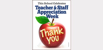 Apple Teacher & Staff Appreciation Poster