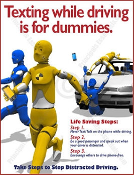 Texting while driving is for dummies.