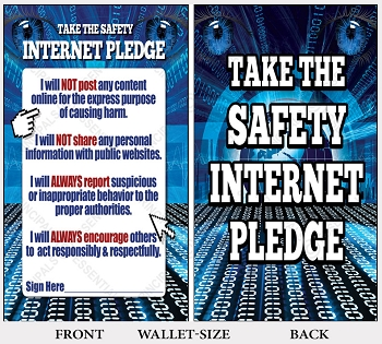 Internet Safety Pledge<br> 500 Wallet-size Cards