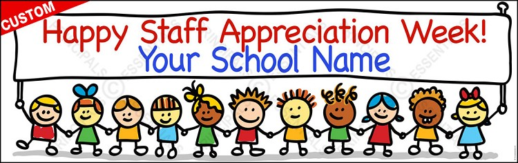 Happy Kids Appreciation Vinyl Banner