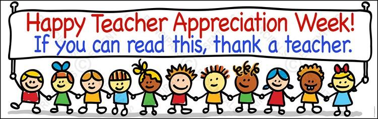 Teacher appreciation week vinyl banner happy teacher appreciation week vinyl banner sciox Images