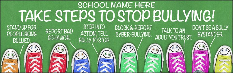 Take Steps to Stop Bullying Banner