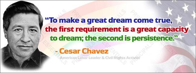Cesar Chavez Vinyl Banner