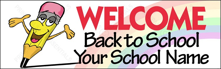Welcome Back Pencil Banner