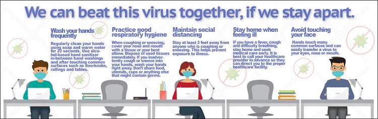 Together Beat Virus Apart Banner