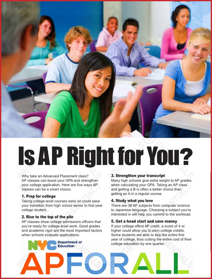 Advanced Placement Right Poster