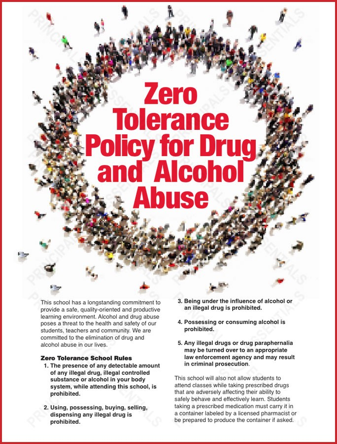 Zero  Tolerance Policy for Drug and  Alcohol Abuse