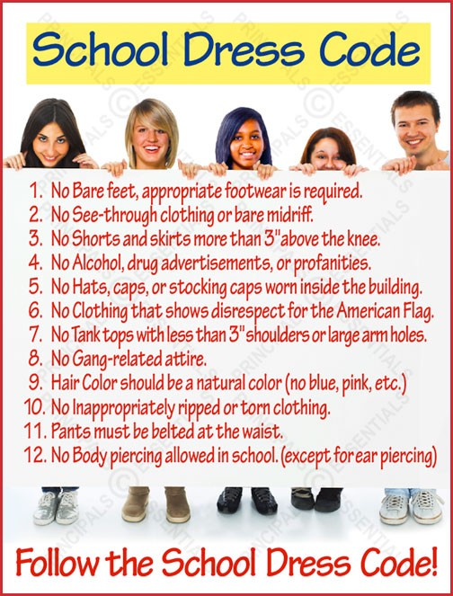 Dress Code Rules Poster