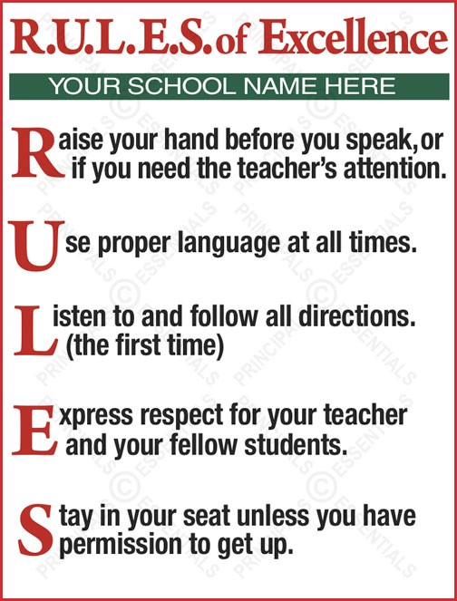 R.U.L.E.S. of  Excellence Poster