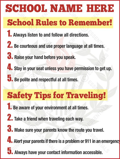 Traveling Safety Tips Poster