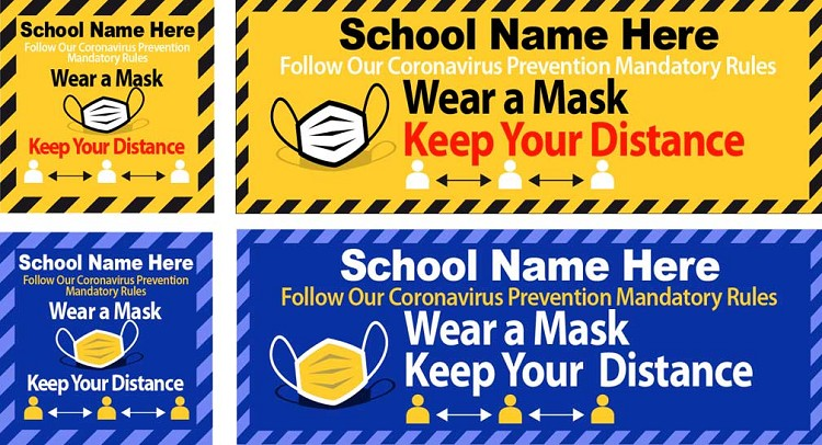 Wear Mask, Keep Distance Outdoor Poster/Banner