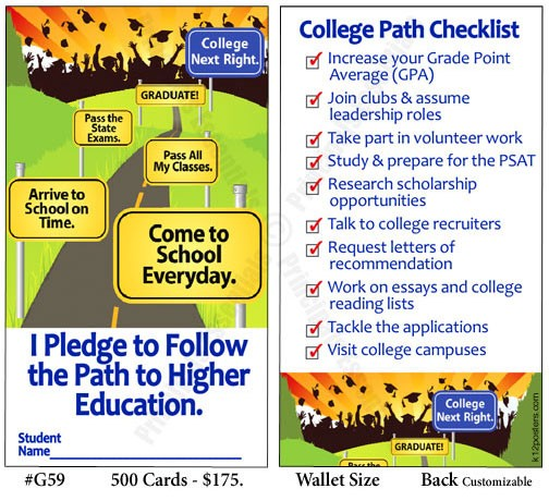 College Path Pledge Cards (500)