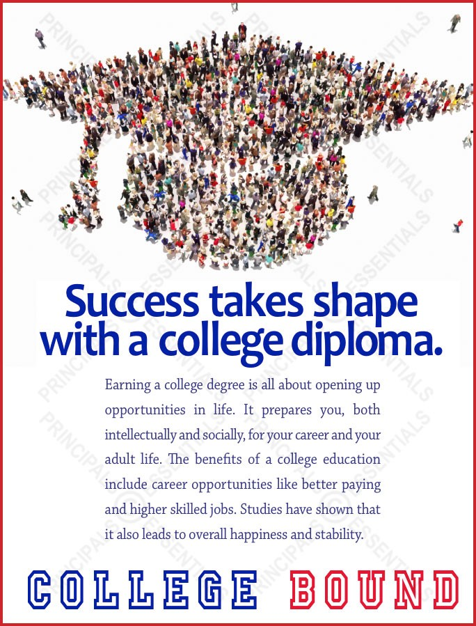 Success takes shape with a college diploma.